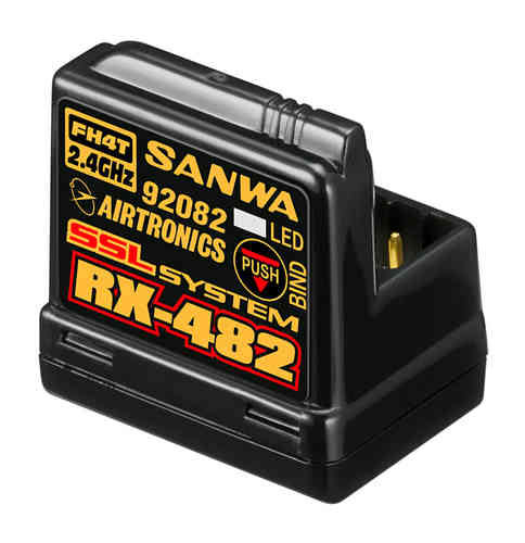SANWA 107A41257A - RX-482 receiver - FH3 / FH4 - 4 ch SSL with integrated antenna