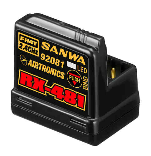 SANWA 107A41251A - RX-481 receiver - FH3 / FH4 - 4 ch with integrated antenna
