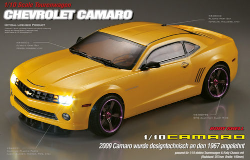 "KillerBody 48023 - Camaro 2011 Karosserie - 190mm - mit ""All-In-Kit"" - 1/10 Tourenwagen"