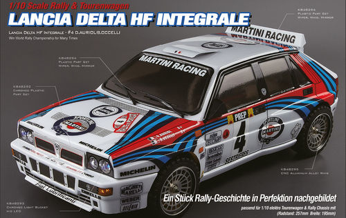 "KillerBody 48285 - Lancia Delta HF Integrale Body - Clear - with ""All-In-Kit"" - 1/10 Touringcar"