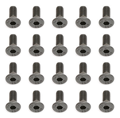Team Associated 25201 - RC12R5.2 Countersunk Screws M3 x 8mm FHCS