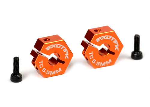 Exotek 1551 - Sport 3 / PRO5 Alu Clamping Hex - 12mm - ORANGE (2)