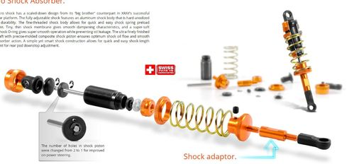 XRAY 378001 - X12 2016 - SHOCK ABSORBER SET