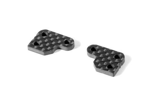 XRAY 322290 - XB2 Graphite Extension for Steering Block (2 pieces) - 2 Slot