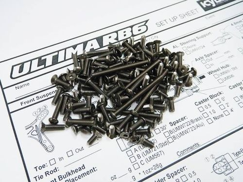Hiro Seiko 69979 - Kyosho Ultima RB6 MM Titan Screws Set