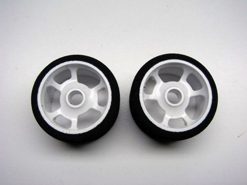 CRC 2197 - Pro-Cut 1/12 foam wheels on HR-38 Flex rims - BLUE - front (2 pcs)