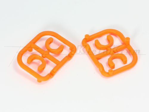 XRAY 305242 - T4 POM Blades - extra strong - 3.5mm - ORANGE (4 pcs)