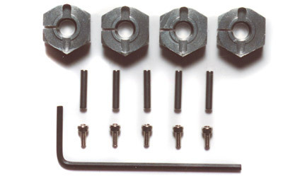 Tamiya 53569 - Clamp Type Alu Wheel Hub (6mm Thick - 4 pcs)
