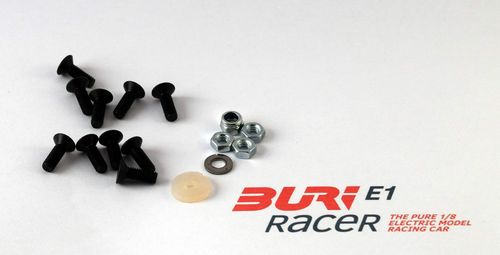BURI Racer E10001 - E1 - Screw set chassis rear