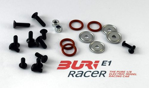 BURI Racer E10011 - E1 - Screw set front axle