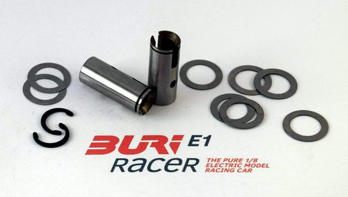 BURI Racer E10155 - E1 - Set front wheel shaft