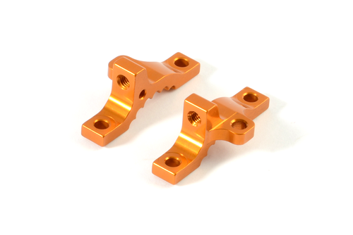 XRAY 332037 - NT1 2016 - Alu Upper Clamp Front - Multi-Flex - ORANGE (2 pcs)