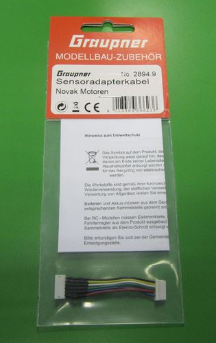 Graupner 2894.9 - Brushless Sensor Adapterkabel - 50mm - 6-polig auf 8-polig