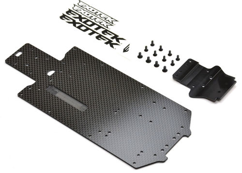 Exotek 1663 - Losi Mini 8ight Rally Carbon Bottom Plate