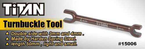 Team Titan 15006 - Turnbuckle Wrench - 3mm & 4mm - 2in1