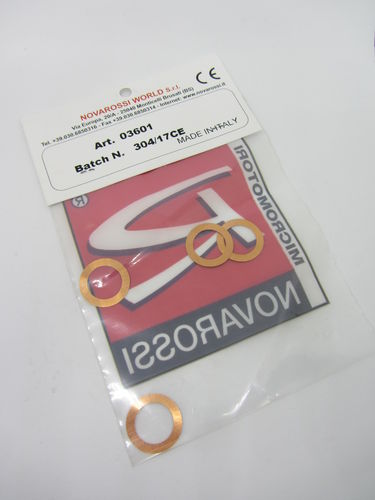 Novarossi 03601 - 2,11 ccm Washer 0,10 (5 pieces)