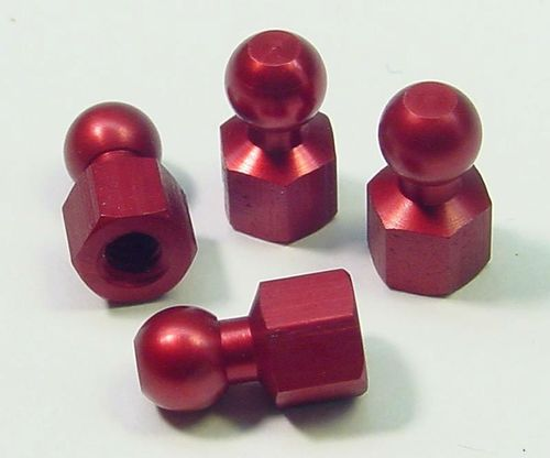 CRC 1407 - Xti-WC - Alu Hex Ball Stud anodized for 1-piece Links (4 pieces)