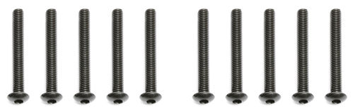 Team Associated 89204 - B6 - Button Head Screws 3x24mm (10 pieces)