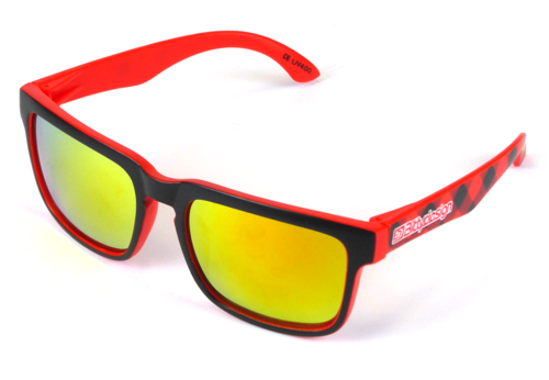 BittyDesign BDSG-CLYR - Claymore Sunglasses - Tartan Red