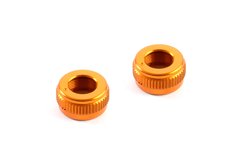 XRAY 301352-O - T4 2017 Locknut for Alu Adjustable Body Post Stop - orange (2 pieces)