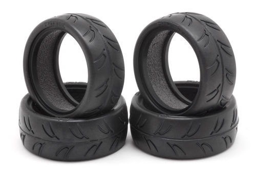 RIDE RI-24025 - 1/10 Touring Car Tires with LT inserts (4 pcs.)