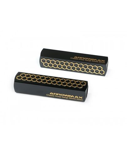 Arrowmax 171055 - Chassis Droop Gauge Blocks 20mm - V2 - Black Golden (2 pieces)
