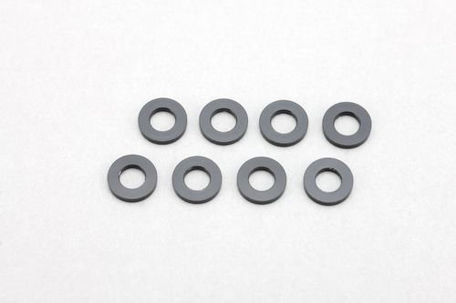 Yokomo ZC-A3610B - YZ-2 / YZ-4 - Alu Shims 3x6x1.0mm - BLACK (8 pcs)