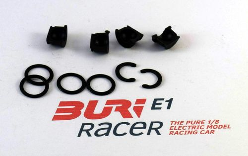 BURI Racer E12014 - E1.2 - Set steering block fixing