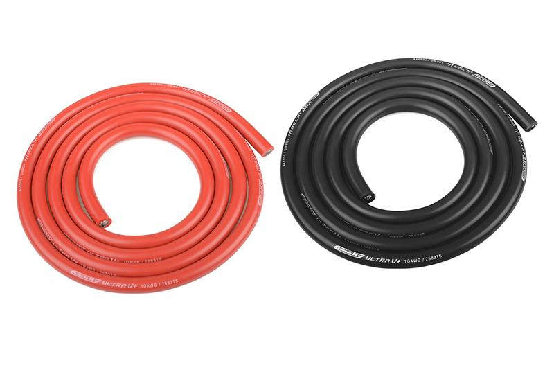 Corally 50107 - Ultra V+ Silikon Kabel - 1m schwarz/rot 5.5mm - 10 ...