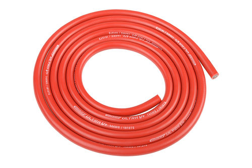 Corally 50120 - Ultra V+ Silikon Kabel - 1m rot 3.5mm - 14 AWG