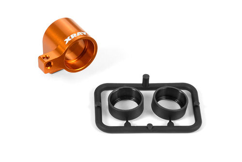 XRAY 335723-O - NT1 2017 - Alu Front Middle Shaft Holder Set - Orange