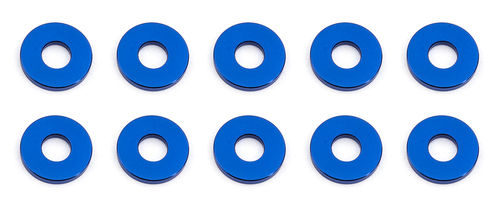 Team Associated 31385 - F6 - Alu Shims - 3x7.8x1.0mm - BLAU (10 Stück)