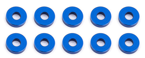 Team Associated 31386 - F6 - Alu Shims - 3x7.8x2.0mm - BLAU (10 Stück)