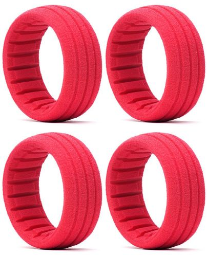 AKA 34001S - Tire Insert - SOFT - 1:8 Buggy - RED (4 pcs)