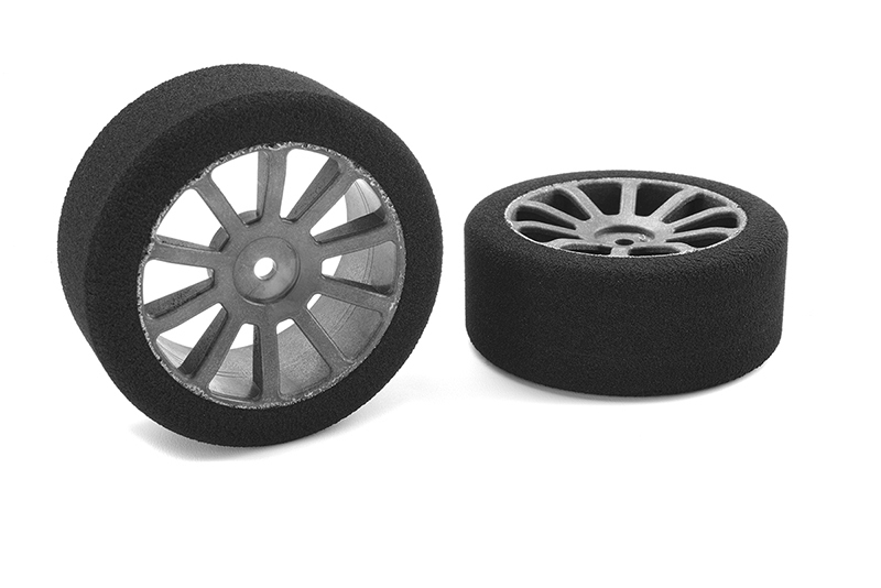 Corally Attack Foam Tires for 1//8 Circuit 35 Shore Front Carbon R14710-35