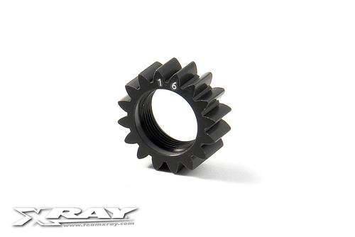 XRAY 348516 - GTX8 XCA Alu 7075 T6 Hard Coated Pinion Gear 16T 1st