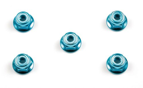 Tamiya 53159 - 4mm Alu Lock Wheel Nut - BLUE (5 pcs)