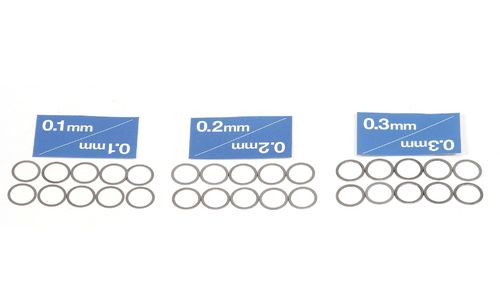 Tamiya 53588 - 10mm Shim Set (3 types / 10pcs each)
