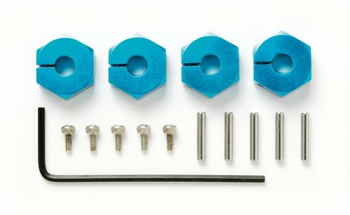 Tamiya 53823 - Clamp Type Alu Wheel Hub (5mm Thick - 4 pcs)