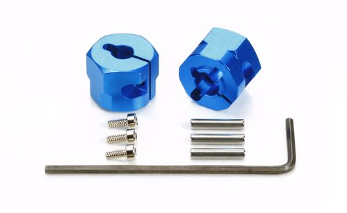 Tamiya 54610 - TT-01 / TT-02 - Alu Wheel Hub 9mm - BLUE (2 pcs)