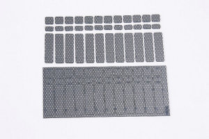 Graupner 99100 - Chassis-Fixing for Li-Car Batteries - Carbon Design - (36 pcs)