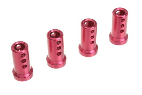 Corally 00130-010 - SSX-8 - Body Mount Posts - RED (4 pcs)