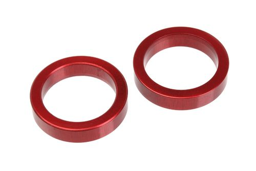 Corally 00130-053 - SSX-8 - Alu Spacer Front Drive Axle - RED (2 pcs)