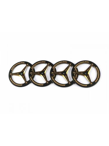 Arrowmax 171007 - ALU SET-UP WHEEL FOR 1/10 ON-ROAD CARS - Black Golden (4pcs)