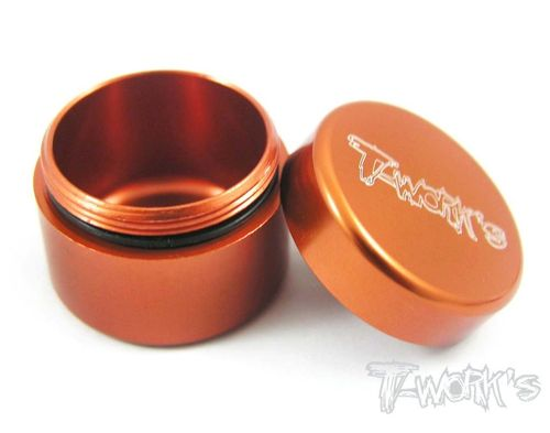 T-Work's TA-033O - Alu Grease Holder - ca. 13ml - ORANGE