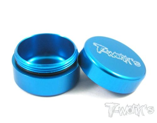 T-Work's TA-034TB - Alu Grease Holder - ca. 10ml - BRIGHT BLUE