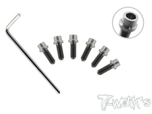 T-Work's TP-039 - Titanium Wheel Hub Screws for Serpent S120 / XRAY X12