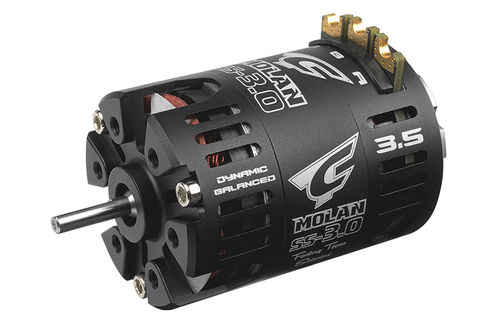 Corally 61050 - MOLAN SS-3.0 - 1/10 Competition Brushless Motor - Modified - 3.5 Turns - 9300KV