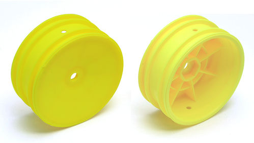 Team Associated 92096 - B64 - 4WD Buggy Front Hex Wheels 12mm yellow (1 pair)
