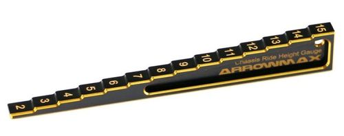 Arrowmax 171011 - RIDE HEIGHT GAUGE 2MM TO 15MM (BELEVED) - Black Golden